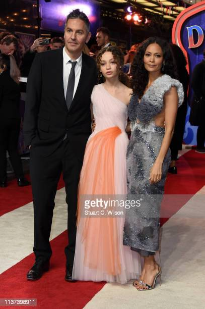 Ol Parker Nico Parker and Thandie Newton attend the 'Dumbo' European premiere at The Curzon Mayfair on March 21 2019 in London England
