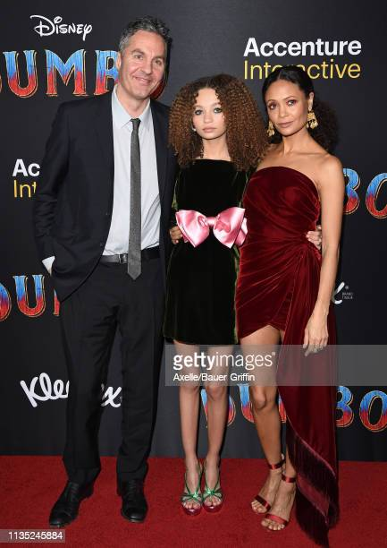 Ol Parker Nico Parker and Thandie Newton attend the premiere of Disney's Dumbo at El Capitan Theatre on March 11 2019 in Los Angeles California