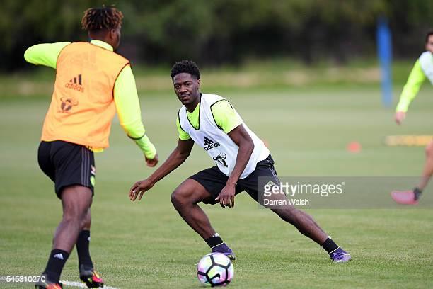 Ola Aina at Chelsea Training Ground on July 6 2016 in Cobham England