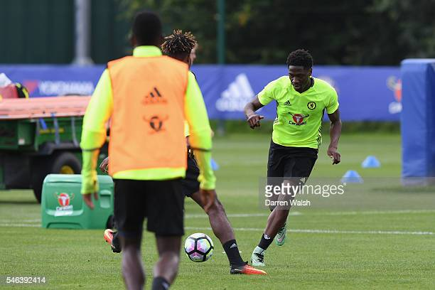 Ola Aina during a Chelsea training session at Chelsea Training Ground on July 12 2016 in Cobham England