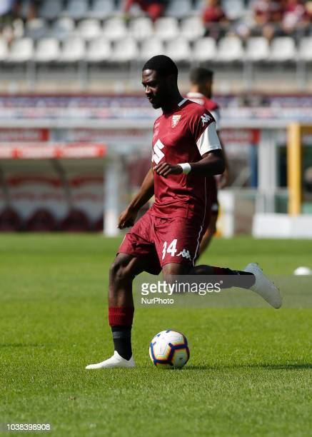 Ola Aina during Serie A match between Torino v Napoli in Turin on September 23 2018