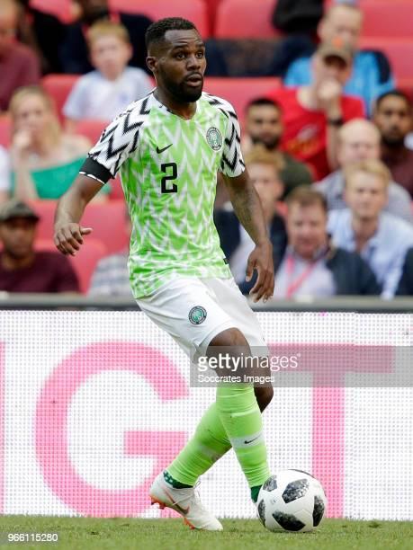 Ola Aina of Nigeria during the International Friendly match between England v Nigeria at the Wembley Stadium on June 2 2018 in London United Kingdom