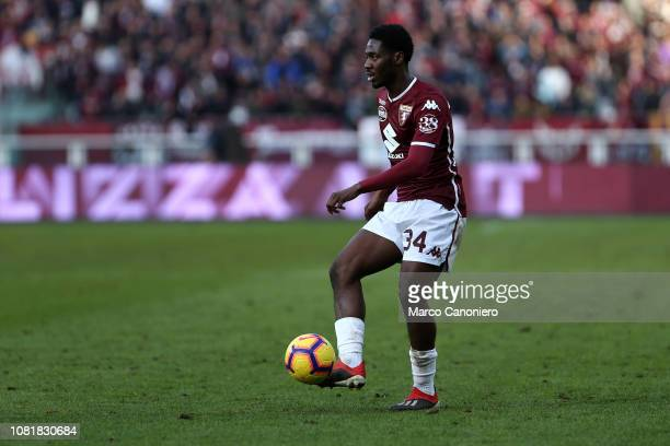 Ola Aina of Torino FC in action during the Italia Tim Cup football match between Torino Fc and Acf Fiorentina Afc Fiorentina wins 20 over Torino Fc
