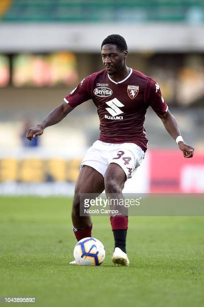 Ola Aina of Torino FC in action during the Serie A football match between AC ChievoVerona and Torino FC Torino FC won 10 over AC ChievoVerona