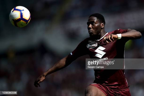 Ola Aina of Torino FC in action during the Serie A football match between Torino FC and SSC Napoli SSC Napoli won 31 over Torino FC