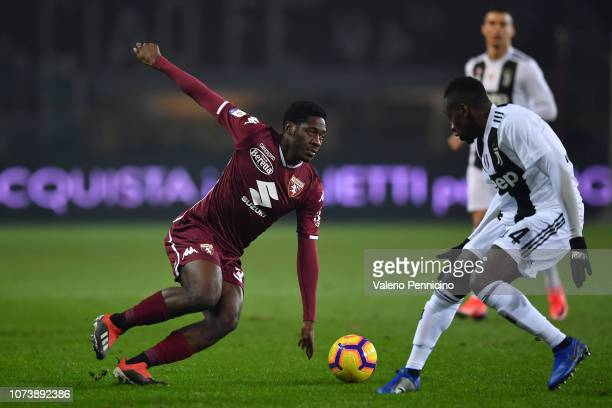 Ola Aina of Torino FC in action during the Serie A match between Torino FC and Juventus at Stadio Olimpico di Torino on December 15 2018 in Turin...