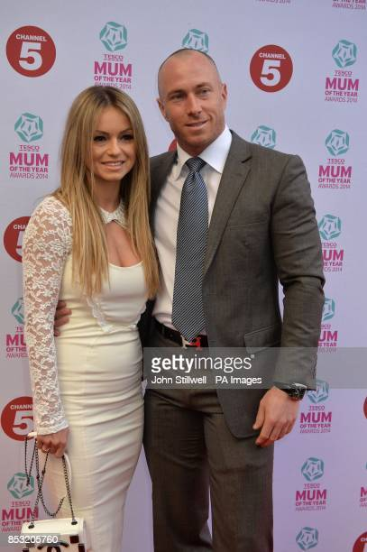 Ola and James Jordan arriving at the Tesco Mum of the Year Awards celebrating Britain's most inspirational mothers at The Savoy Hotel Strand in...
