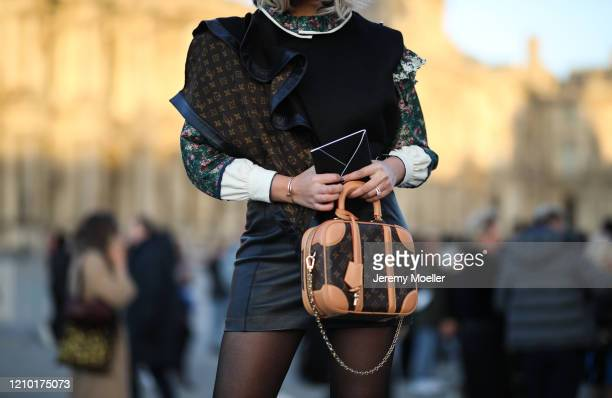 Ola Farahat is seen outside Louis Vuitton show during Paris Fashion week Womenswear Fall/Winter 2020/2021 Day Nine on March 03, 2020 in Paris, France.