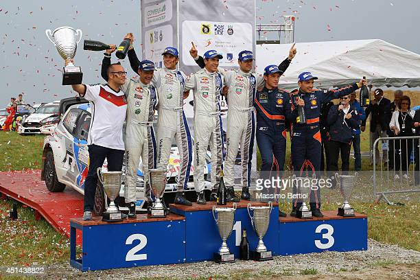 Ola Floene of Norway and Andreas Mikkelsen of Norway Julien Ingrassia of France and Sebastien Ogier of France Thierry Neuville of Belgium and Nicolas...