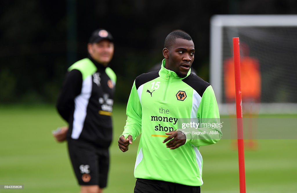 Ola John of Wolverhampton Wanderers during a training session at Compton on August 22, 2016 in Wolverhampton, England.