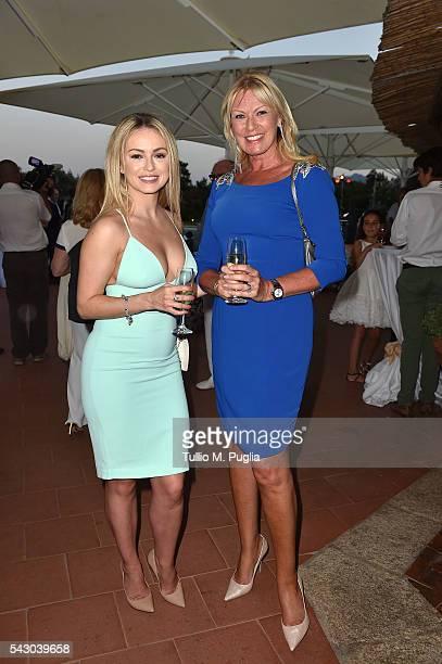 Ola Jordan and Alison Campbell attend the Gala Dinner during The Costa Smeralda Invitational golf tournament at Pevero Golf Club Costa Smeralda on...
