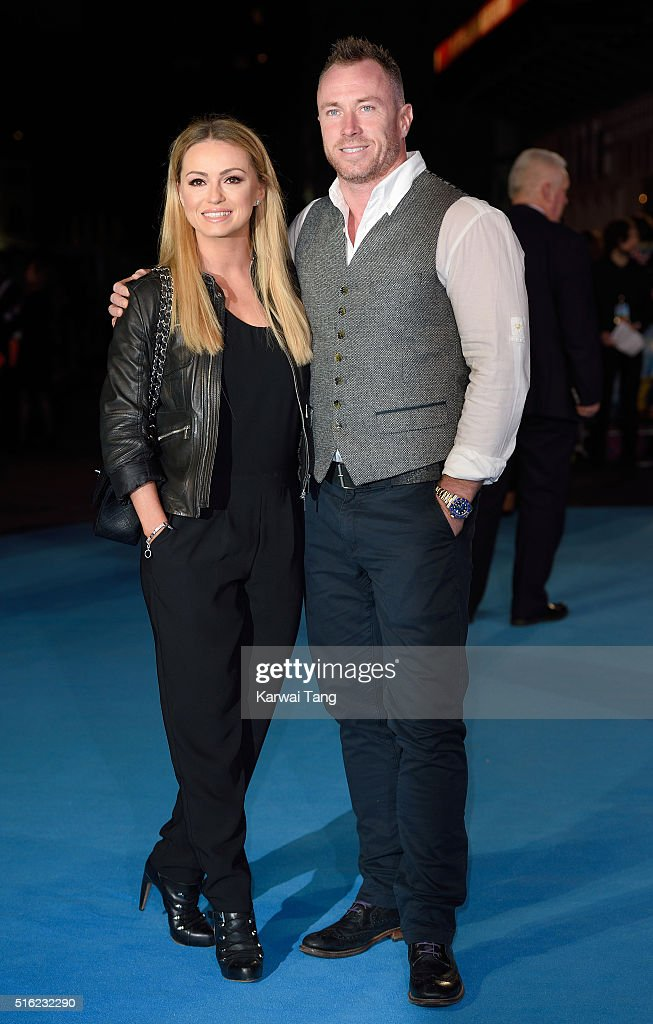 Ola Jordan and James Jordan arrive for the European premiere of 'Eddie The Eagle' at Odeon Leicester Square on March 17, 2016 in London, England.