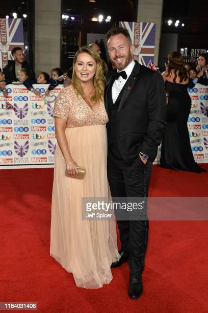 Ola Jordan and James Jordan attend Pride Of Britain Awards 2019 at The Grosvenor House Hotel on October 28 2019 in London England