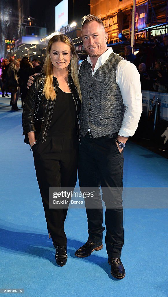 Ola Jordan and James Jordan attend the European Premiere of 'Eddie The Eagle' at Odeon Leicester Square on March 17, 2016 in London, England.