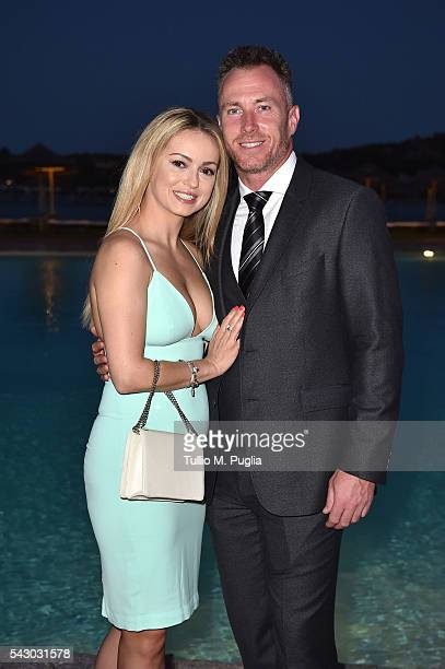 Ola Jordan and James Jordan attend the Gala Dinner during The Costa Smeralda Invitational golf tournament at Pevero Golf Club Costa Smeralda on June...