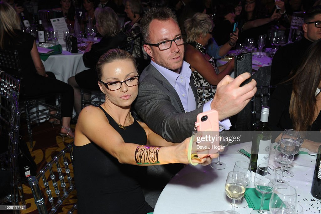 Ola Jordan and James Jordan attend the Spectacle Wearer Of the year Awards at 8 Northumberland Avenue on October 7, 2014 in London, England.