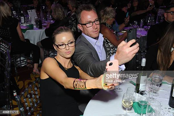 Ola Jordan and James Jordan attend the Spectacle Wearer Of the year Awards at 8 Northumberland Avenue on October 7 2014 in London England