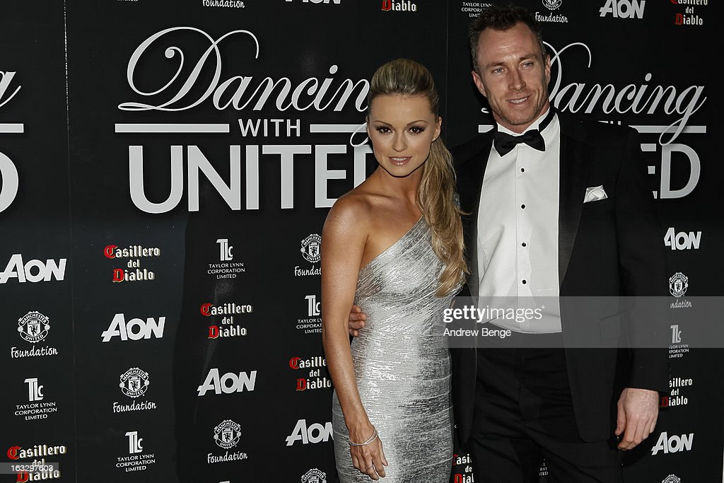 Ola Jordan and James Jordan attends the Manchester United Foundations Dancing with united charity fundraiser at Lancashire County Cricket Club on March 7, 2013 in Manchester, England.
