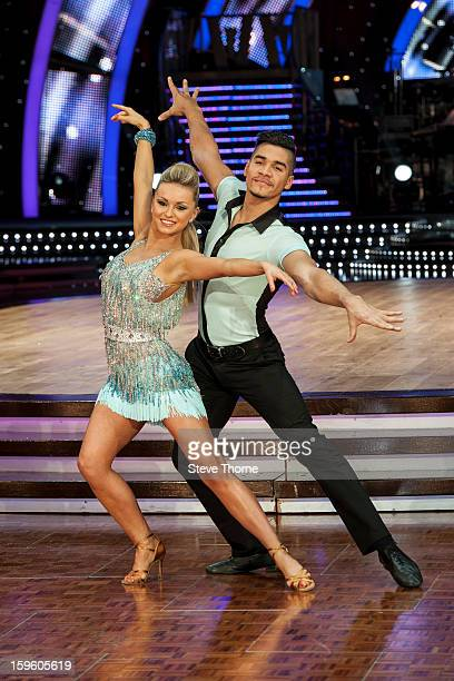 Ola Jordan and Louis Smith attend a photocall ahead of the Strictly Come Dancing Live Tour at NIA Arena on January 17 2013 in Birmingham England