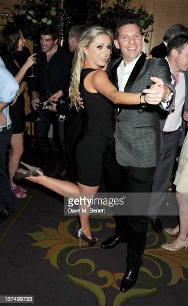 Ola Jordan and Nick Candy dance at Candy Candy CEO Nick Candy's 39th birthday party in association with Ciroc Vodka at No 5 Cavendish Square on...