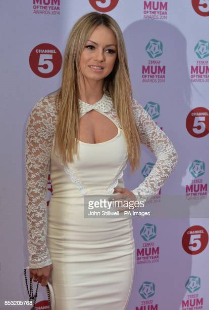 Ola Jordan arriving at the Tesco Mum of the Year Awards celebrating Britain's most inspirational mothers at The Savoy Hotel Strand in central London
