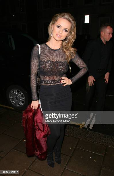 Ola Jordan at Claridges hotel ballroom on January 28 2014 in London England