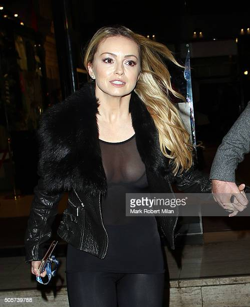 Ola Jordan attending Cirque Du Soleil Amaluna at the Royal Albert Hall on January 19 2016 in London England