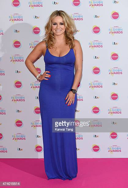 Ola Jordan attends Lorraine's High Street Fashion Awards at Grand Connaught Rooms on May 19 2015 in London England