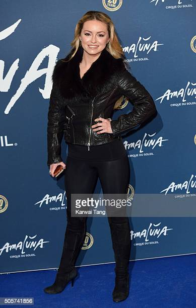 Ola Jordan attends the Red Carpet arrivals for Cirque Du Soleil Amaluna at Royal Albert Hall on January 19 2016 in London England
