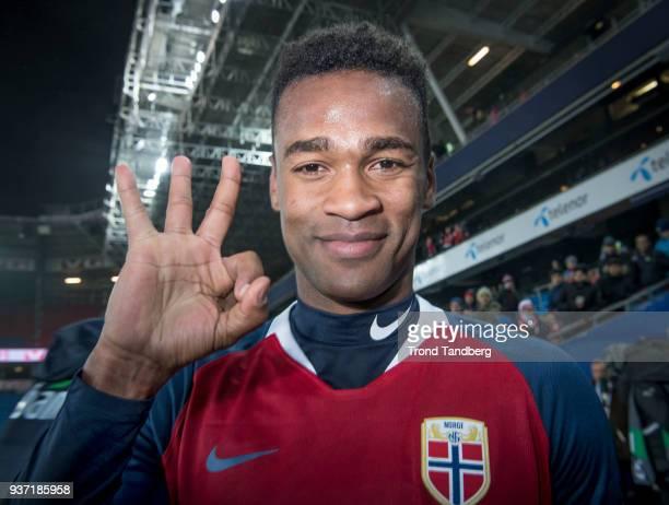 Ola Kamara of Norway after International Friendly between Norway v Australia at Ullevaal Stadion on March 23 2018 in Oslo Norway