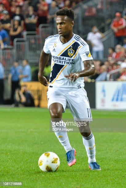 Ola Kamara with the ball during 2018 MLS Regular Season match between Toronto FC and LA Galaxy at BMO Field .