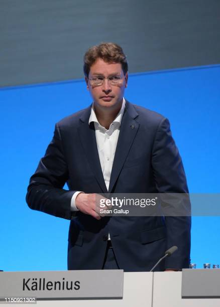Ola Källenius, who will succeed Dieter Zetsche as chairman of Daimler AG, attends the annual Daimler AG shareholders meeting on May 22, 2019 in...
