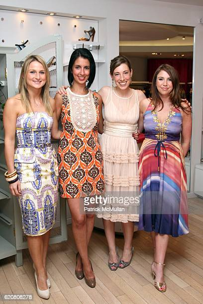 Ola Matualniec Saba Ebrahimi Georgia Mack and Danielle Sanders attend TRACY REESE Secret Garden Party at Tracy Reese Boutique on March 27 2008 in New...