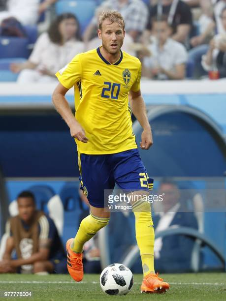 Ola Toivonen of Sweden during the 2018 FIFA World Cup Russia group F match between Sweden and Korea Republic at the Novgorod stadium on June 18 2018...