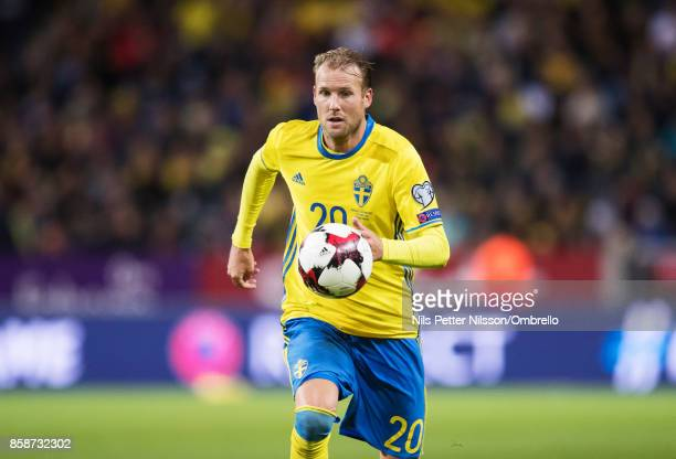 Ola Toivonen of Sweden during the FIFA 2018 World Cup Qualifier between Sweden and Luxembourg at Friends Arena on October 7 2017 in Solna Sweden