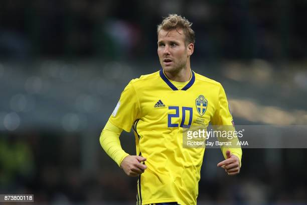 Ola Toivonen of Sweden during the FIFA 2018 World Cup Qualifier PlayOff Second Leg between Italy and Sweden at San Siro Stadium on November 13 2017...