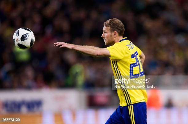 Ola Toivonen of Sweden during the International Friendly match between Sweden and Chile at Friends arena on March 24 2018 in Solna Sweden