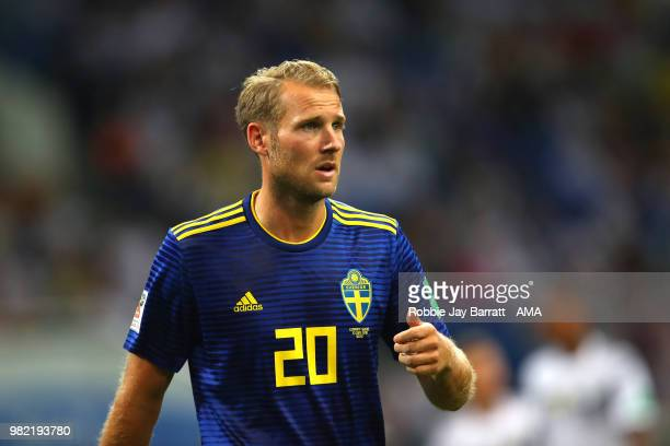 Ola Toivonen of Sweden in action during the 2018 FIFA World Cup Russia group F match between Germany and Sweden at Fisht Stadium on June 23 2018 in...
