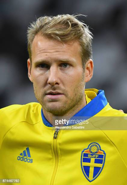 Ola Toivonen of Sweden looks on during the FIFA 2018 World Cup Qualifier PlayOff Second Leg between Italy and Sweden at San Siro Stadium on November...
