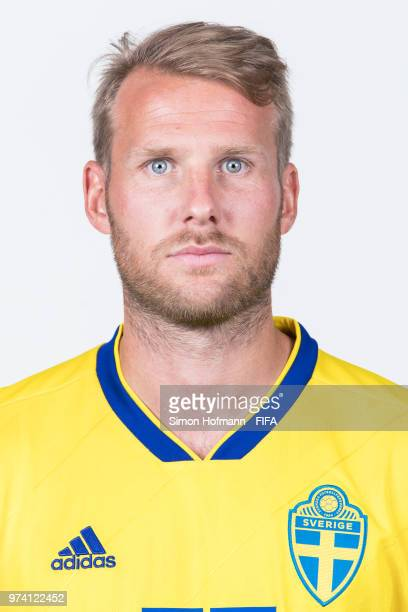 Ola Toivonen of Sweden poses during the official FIFA World Cup 2018 portrait session on June 13 2018 in Gelendzhik Russia