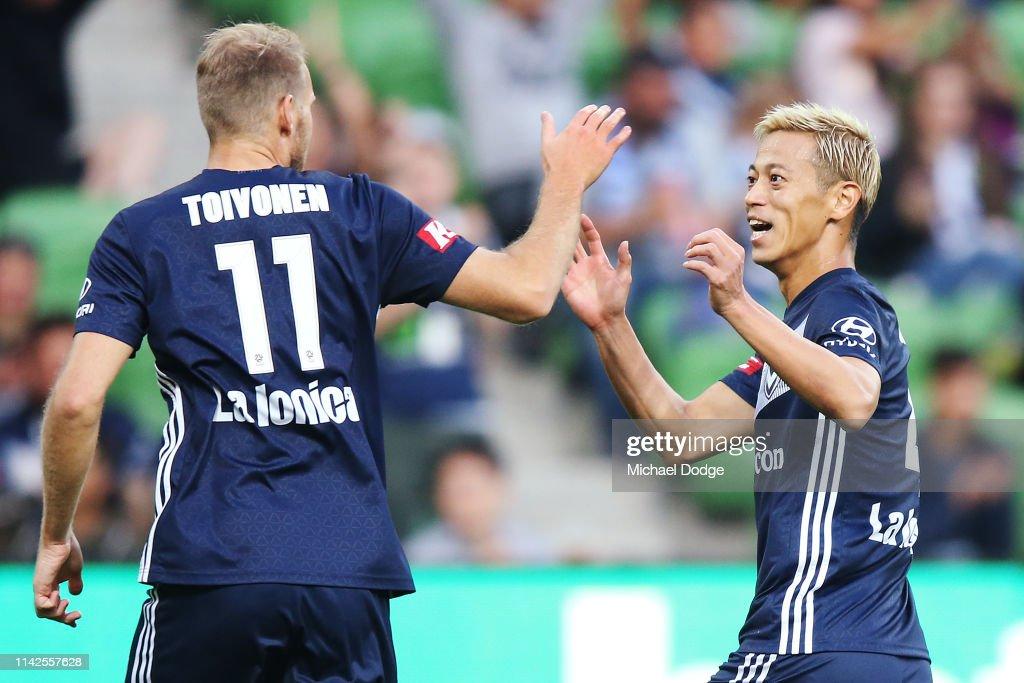 A-League Rd 25 - Melbourne v Central Coast : News Photo