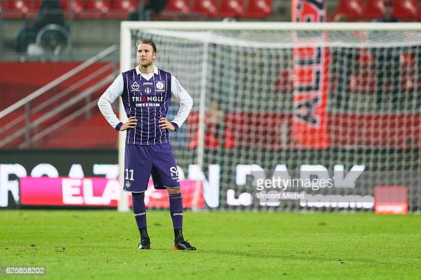 Ola Toivonen of Toulouse during the French Ligue 1 match between Rennes and Toulouse at Roazhon Park on November 25, 2016 in Rennes, France.