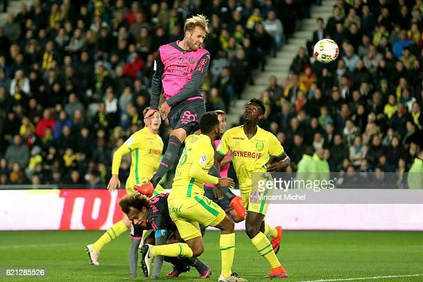 Ola Toivonen of Toulouse during the Ligue 1 match between Fc Nantes and Toulouse Fc at Stade de la Beaujoire on November 5 2016 in Nantes France