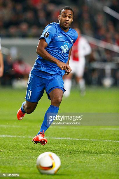 Ola Williams Kamara of Molde FK in action during the group A UEFA Europa League match between AFC Ajax and Molde FK held at Amsterdam Arena on...
