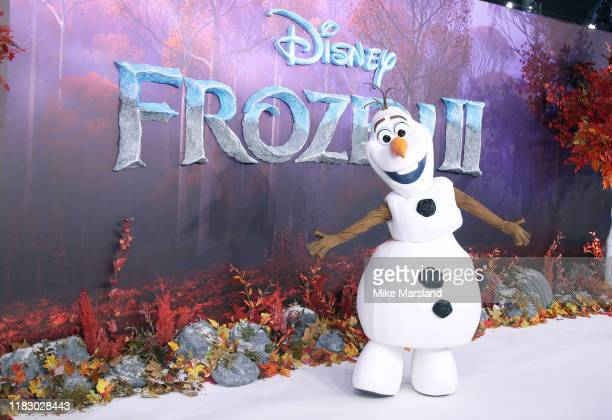 Olaf attends the Frozen 2 European premiere at BFI Southbank on November 17 2019 in London England