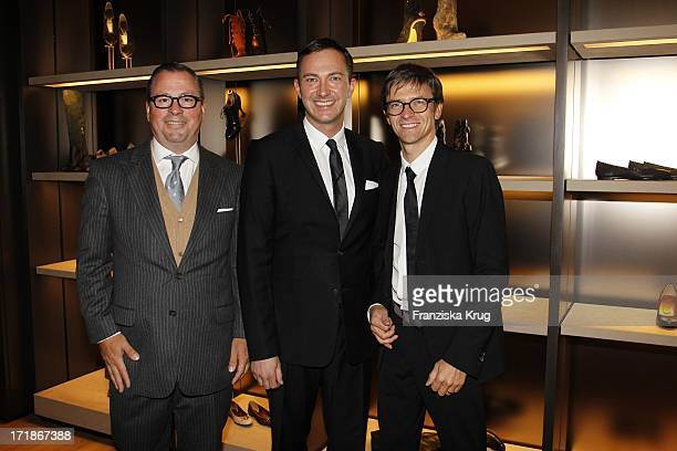 Olaf Becker , Store Manager, and Dr. Bernd Hauptkorn At Bally Store Opening Event at the Neuer Wall in Hamburg