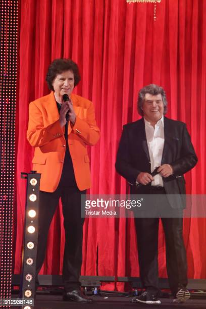 Olaf der Flipper and Andy Borg during the TV Show 'Meine Schlagerwelt Die Party' hosted by Ross Antony on January 31 2018 in Leipzig Germany