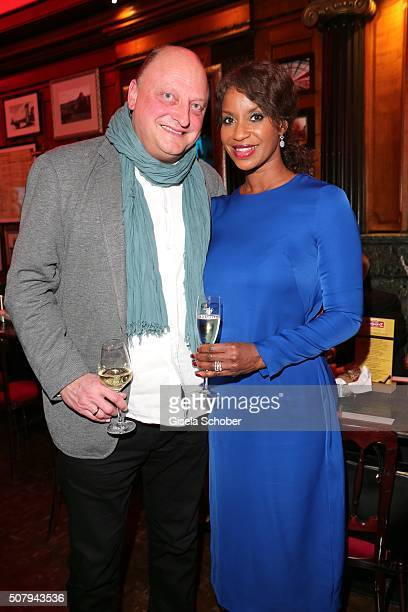 Olaf Glaeseker and Liz Baffoe during the Lambertz Monday Night 2016 at Alter Wartesaal on February 1 2016 in Cologne Germany