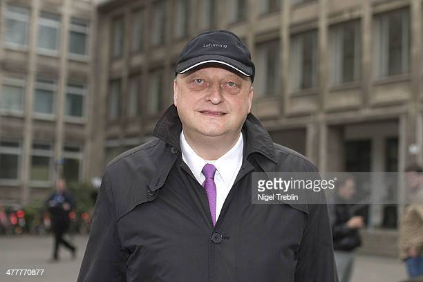 Olaf Glaeseker, former spokesman for former German President Christian Wulff, leaves the Landgericht Hannover courthouse after the last day of his...