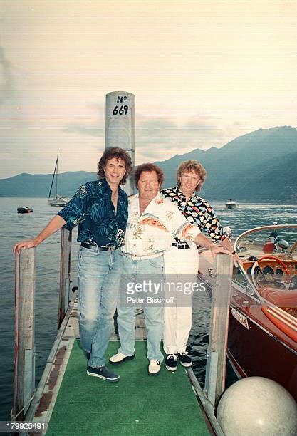 Olaf Malolepski Manfred Durban BerndHengst FlippersJubiläumSpecialZDFShow Ascona/Tessin/Schweiz GoldeneSchallplatten
